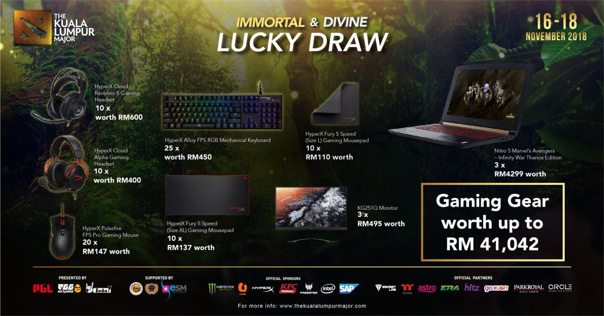 Awesome HyperX and Acer Predator Prizes Await Lucky Ticket Holders at KL Major